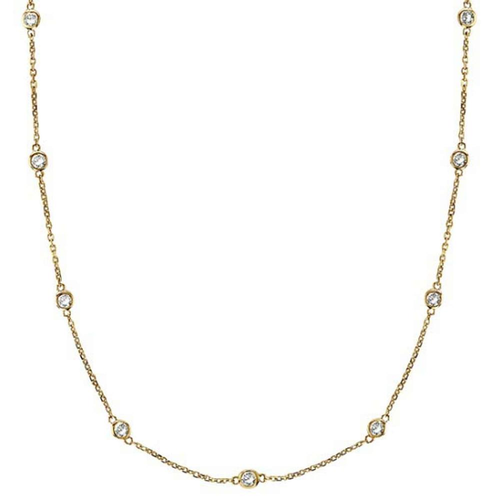 Diamonds by The Yard Bezel-Set Necklace in 14k Yellow Gold (0.75 ctw) #PAPPS20868