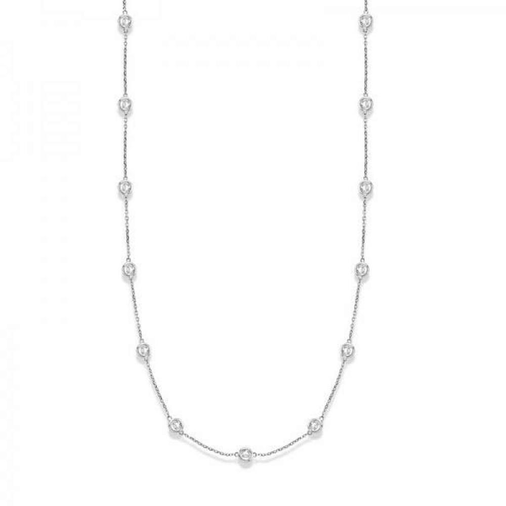 36 inch Diamonds by The Yard Station Necklace 14k White Gold (4.00ct) #PAPPS20693