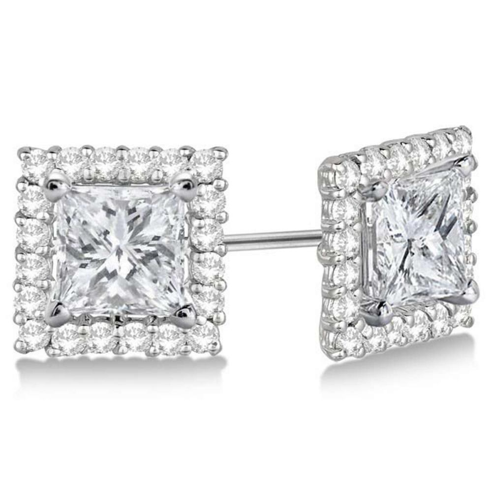 Pave-Set Square Diamond Earring Jackets 14k White Gold (0.55ct) #PAPPS20900