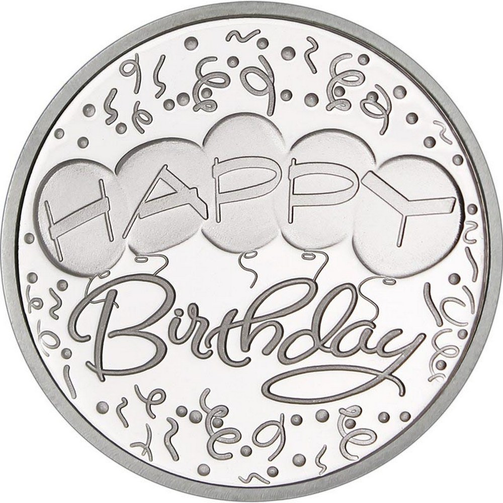 Happy Birthday Balloons .999 Silver 1 oz Round #PAPPS84480