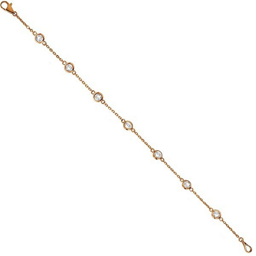 Diamonds by The Yard Bezel-Set Bracelet 14K Rose Gold (1.00ct) #PAPPS21329