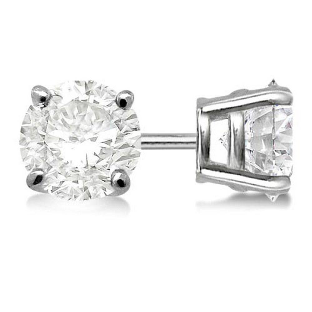 1.00ct. 4-Prong Basket Diamond Stud Earrings Palladium (G-H ) #PAPPS21315