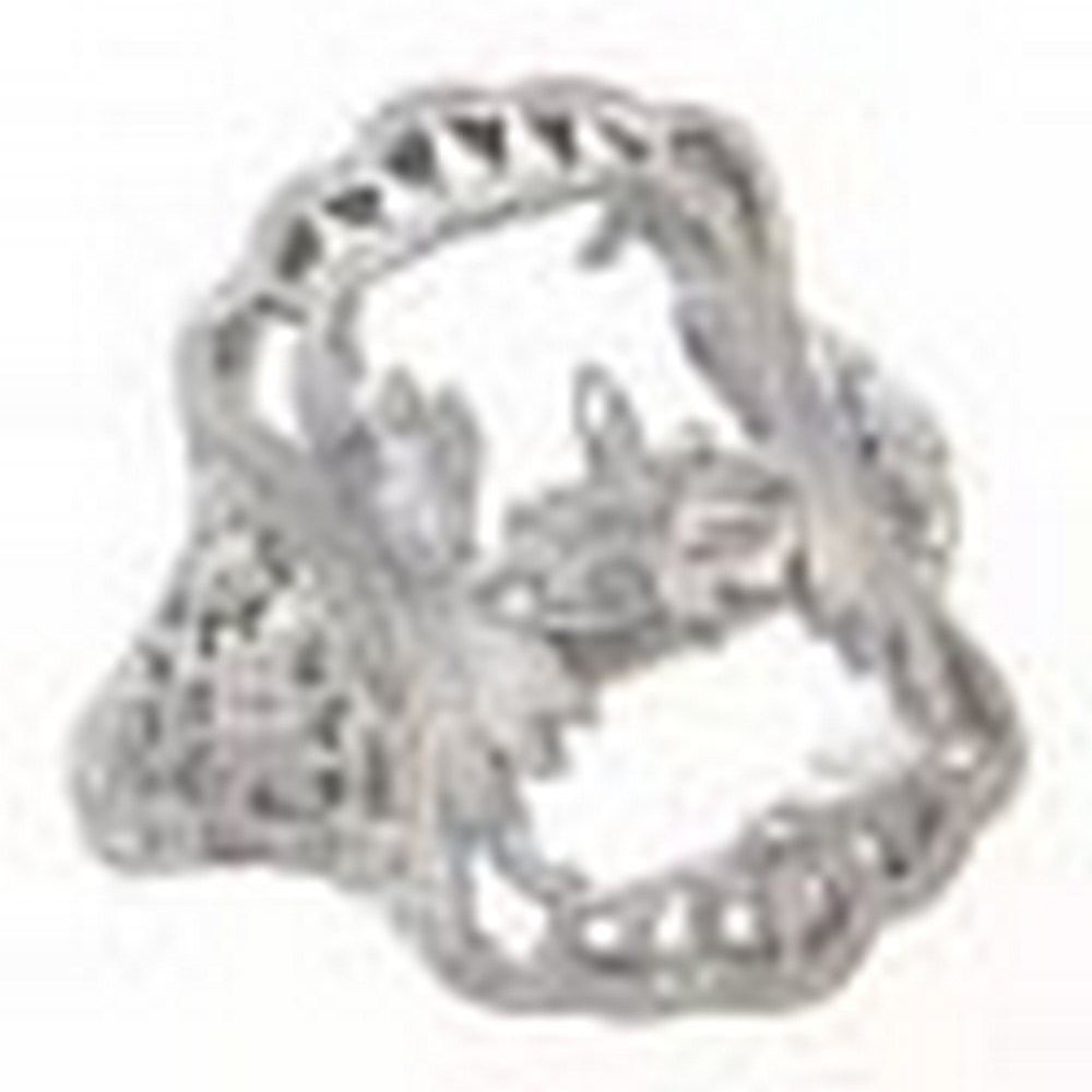 Antique Victorian Style Filigree Ring Flower Design Semi Mount 14kt White Gold #PAPPS11312