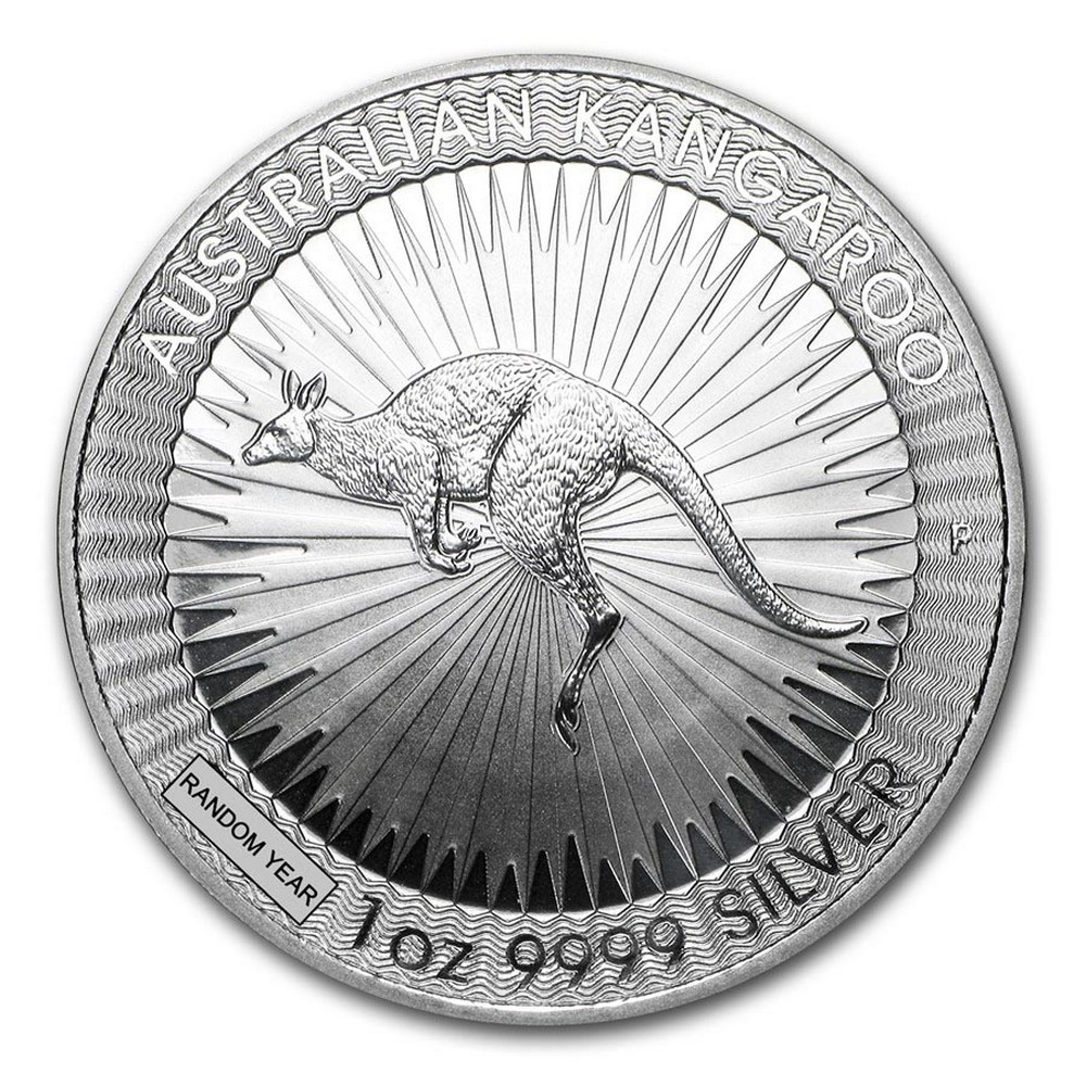 Australia 1 oz Silver Kangaroo - Random Year #PAPPS84536