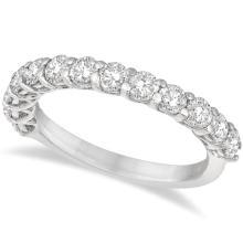 Half Eternity Round Cut Diamond Ring Band 14k White Gold (1.35ct) #21078v3