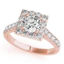 CERTIFIED 14KT ROSE GOLD 1.65 CT G-H/VS-SI1 DIAMOND HALO ENGAGEMENT RING #86250v3