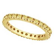 Fancy Yellow Canary Diamond Eternity Ring Band 14K Yellow Gold (0.51ct) #20593v3