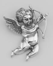 Love Cupid / Cherub Art Nouveau Style Pin or Pendant Sterling Silver #97288v2