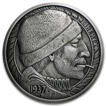 5 oz Silver Antique Round - Hobo Nickel Replica (The Fisherman) #74573v3