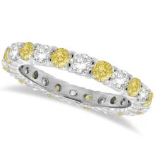 Fancy Yellow Canary and White Diamond Eternity Band 14k Gold (1.07ct) #20463v3