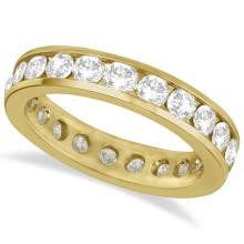 Channel-Set Diamond Eternity Ring Band 14k Yellow Gold (2.25ct) #21173v3