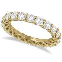 Luxury Diamond Eternity Anniversary Ring Band 14k Yellow Gold (3.50ct) #20552v3