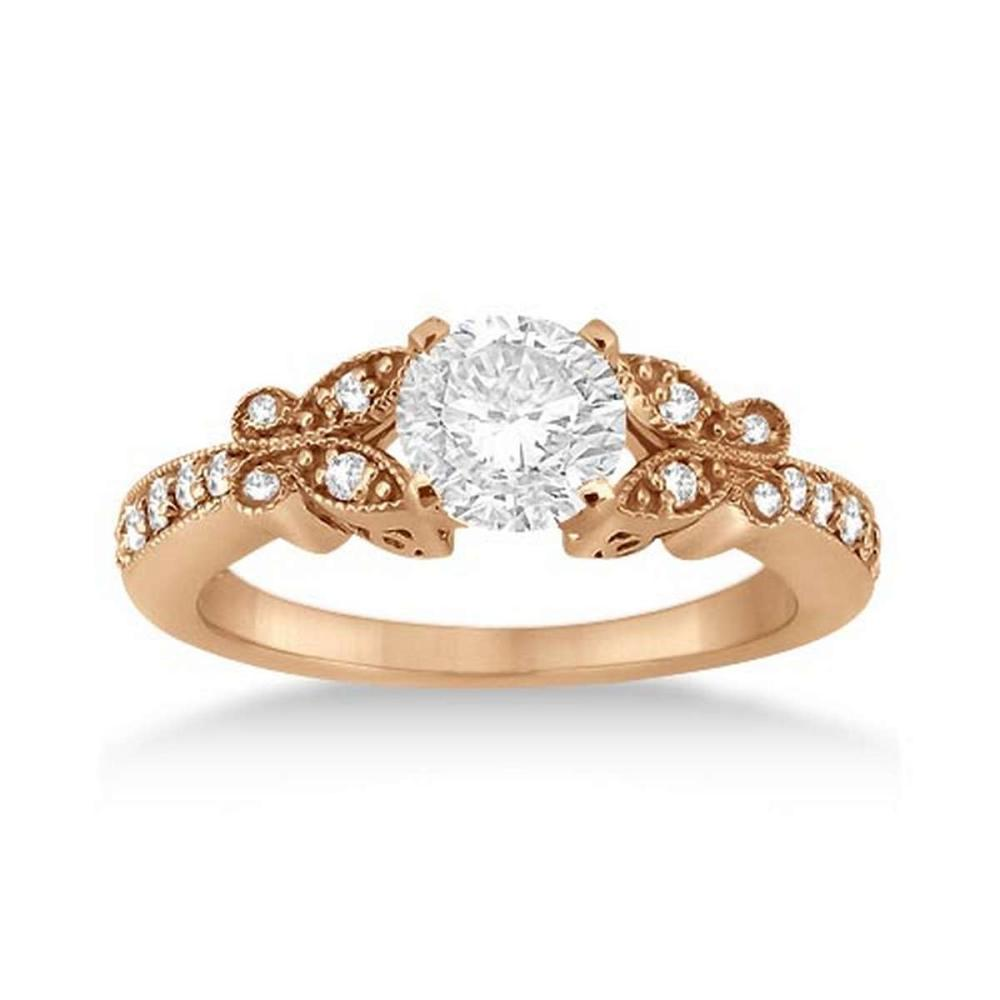 Butterfly Diamond Engagement Ring 14k Rose Gold (1.10ct) #PAPPS21035