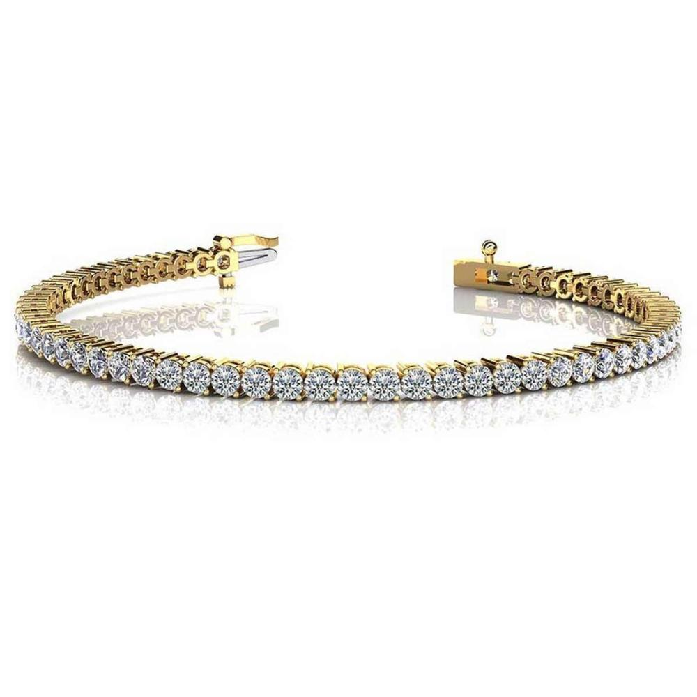 CERTIFIED 14K YELLOW GOLD 2.00 CTW G-H G-H SI2/I1 2 PRONG SET ROUND DIAMOND TENNIS BRACELET MADE IN USA #PAPPS21462