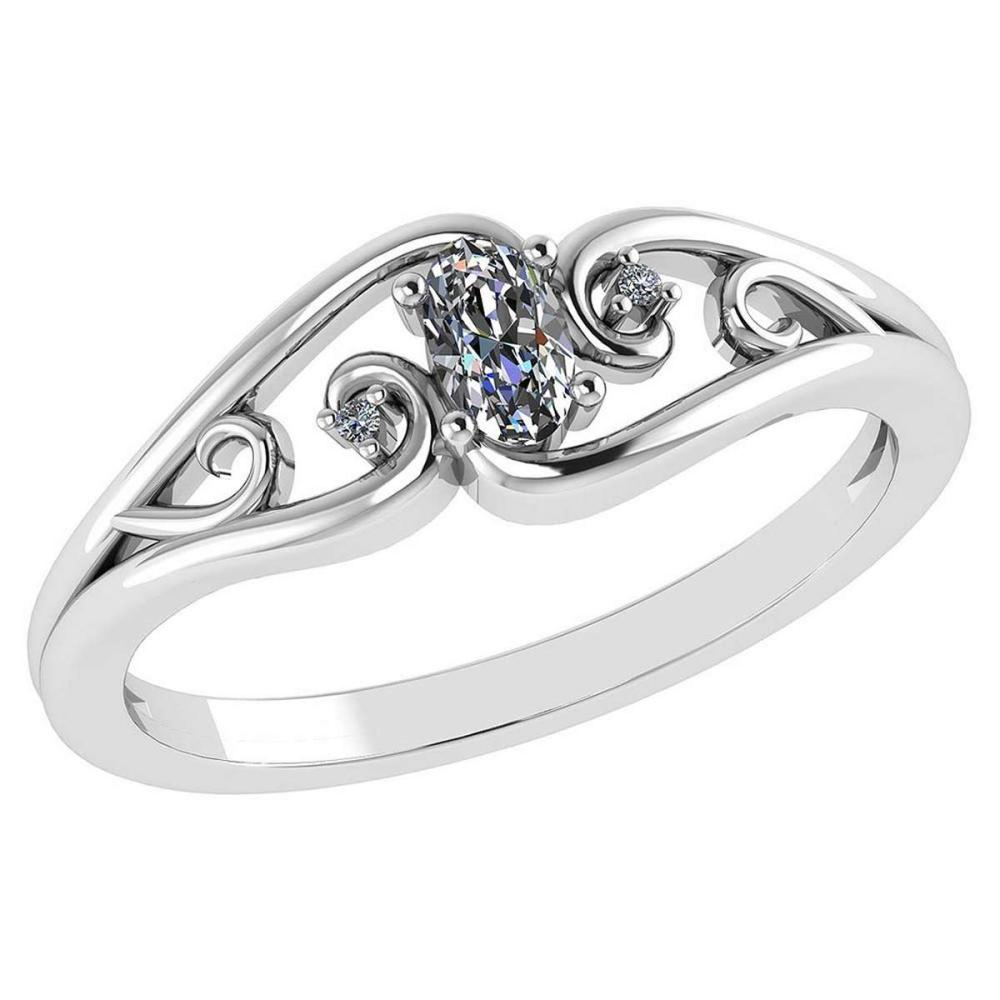 0.22 Ctw Diamond 14k White Gold Simple Ring #PAPPS96008