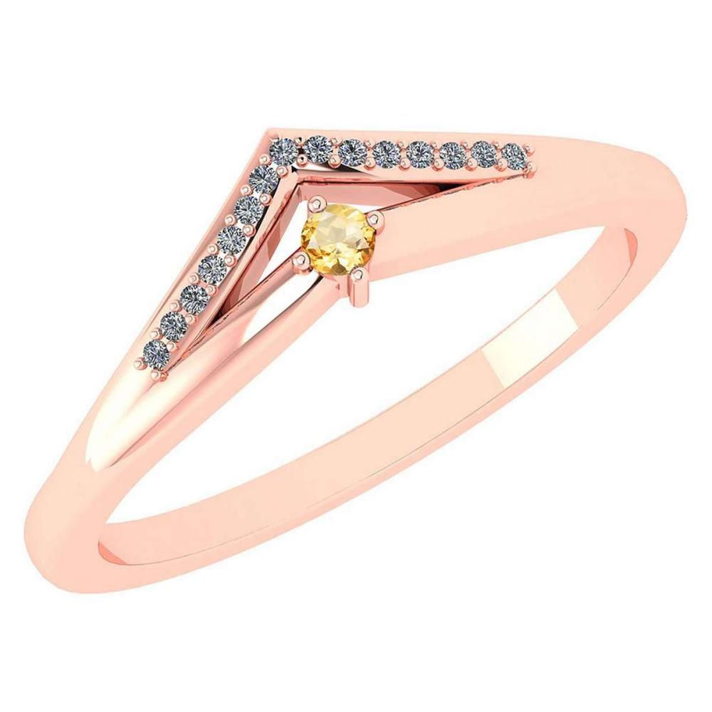 Certified 0.07 Ctw Smoky Quarzt And Diamond 18k Rose Gold Halo Ring (VS/SI1) MADE IN USA #PAPPS20529