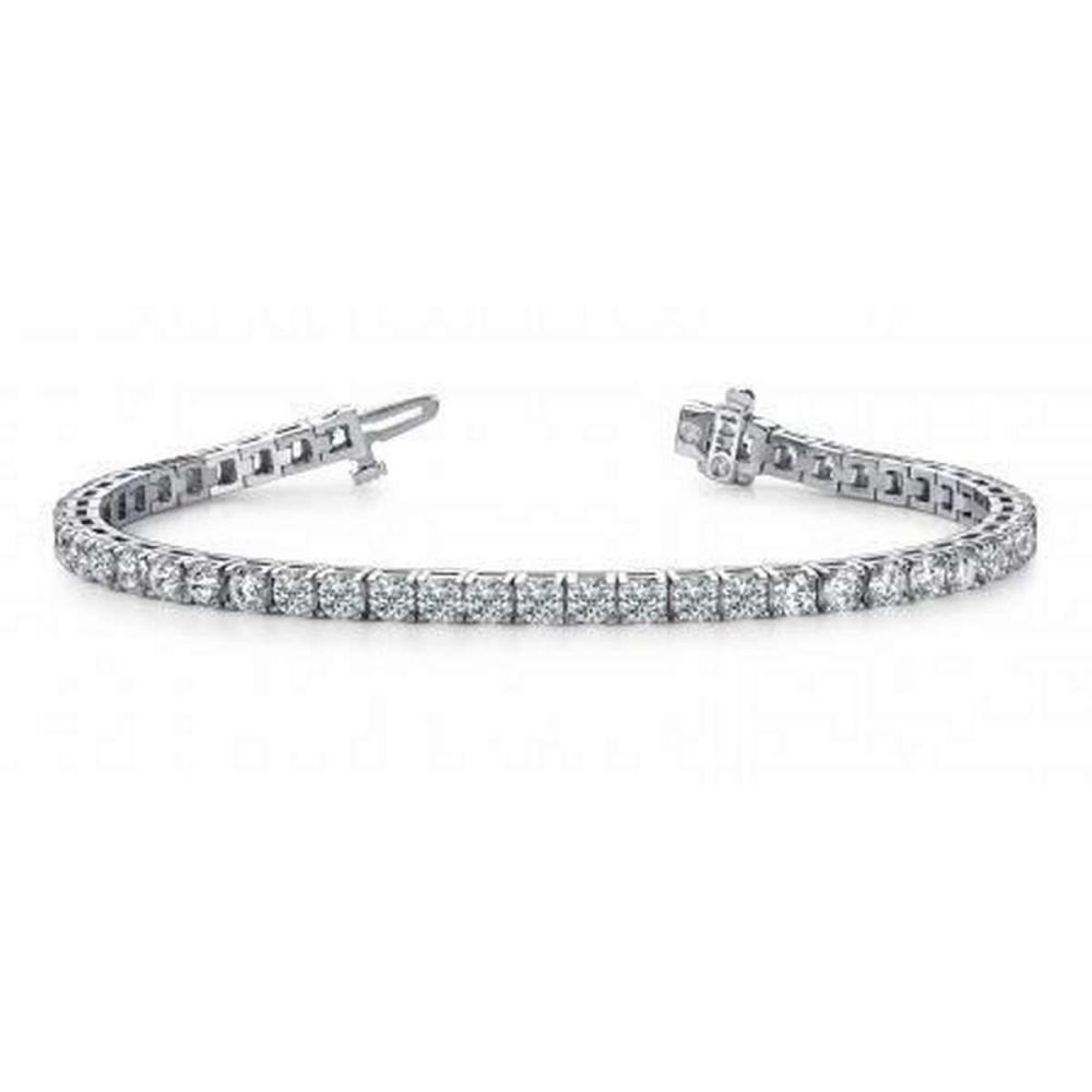 CERTIFIED 14K WHITE GOLD 3 CTW G-H SI2/I1 DIAMOND DREAMS TENNIS BRACELET MADE IN USA #PAPPS21475
