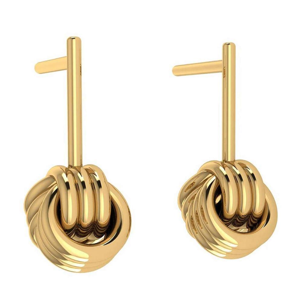 Gold Stud Earrings 14K Yellow Gold Made In Italy #PAPPS22197