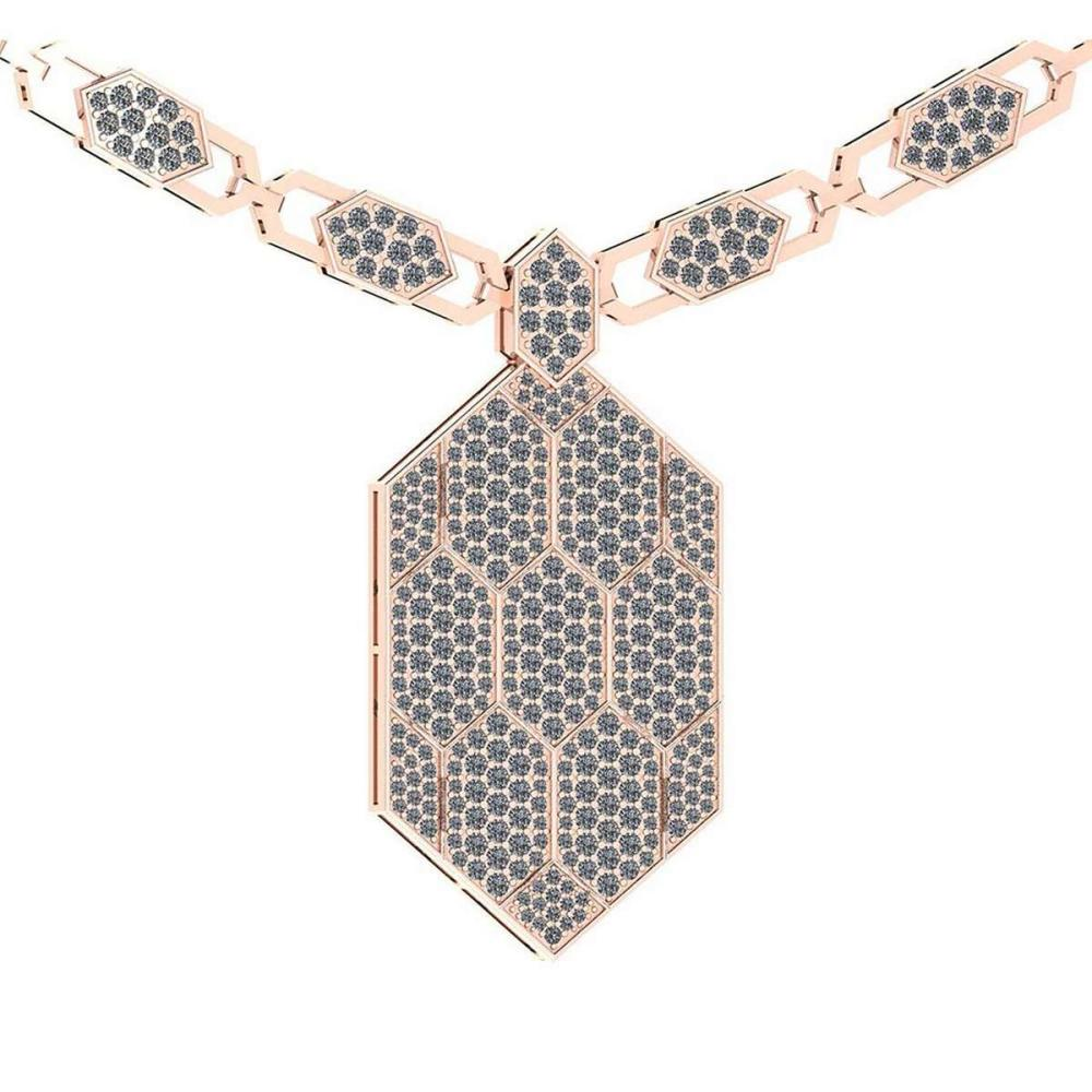 Certified 3.46 Ctw Diamond VS/SI1 Necklace For beautiful ladies 18k Rose Gold #PAPPS19503