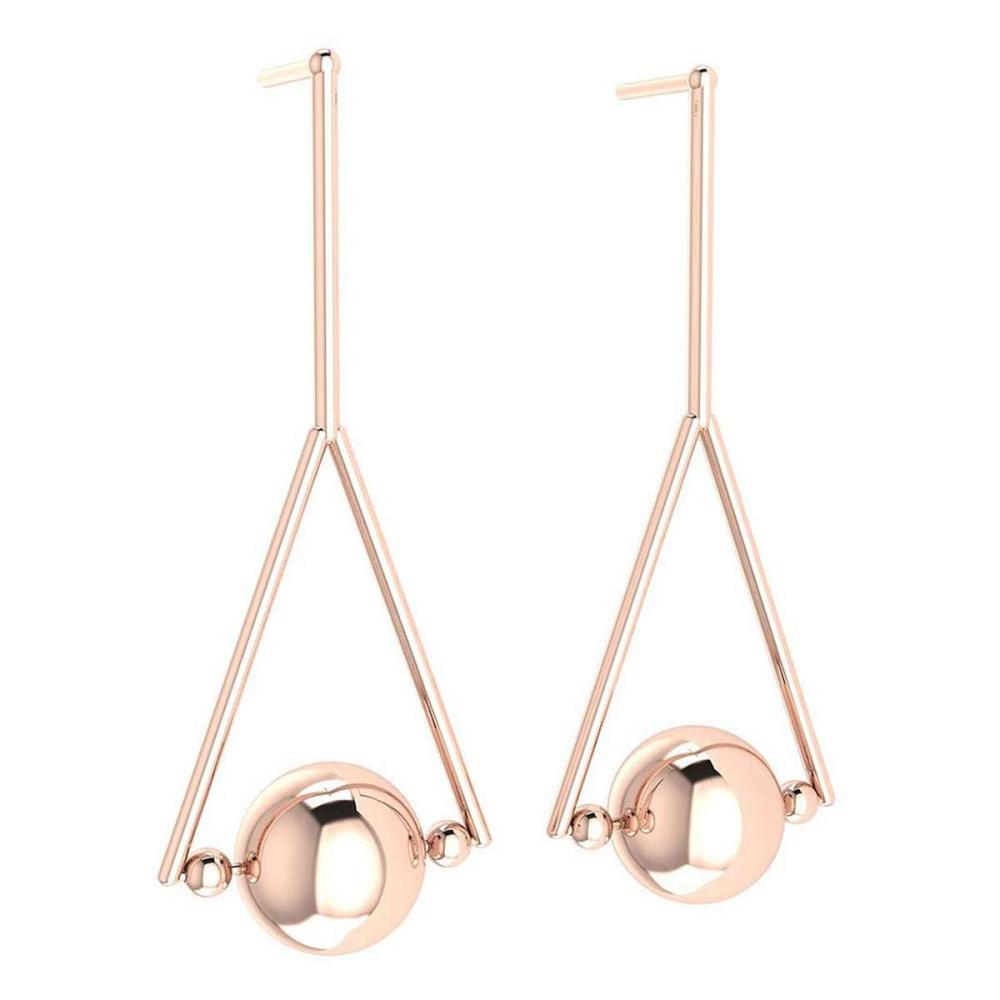 Gold Stud Earring 18K Rose Gold Made In Italy #PAPPS22318