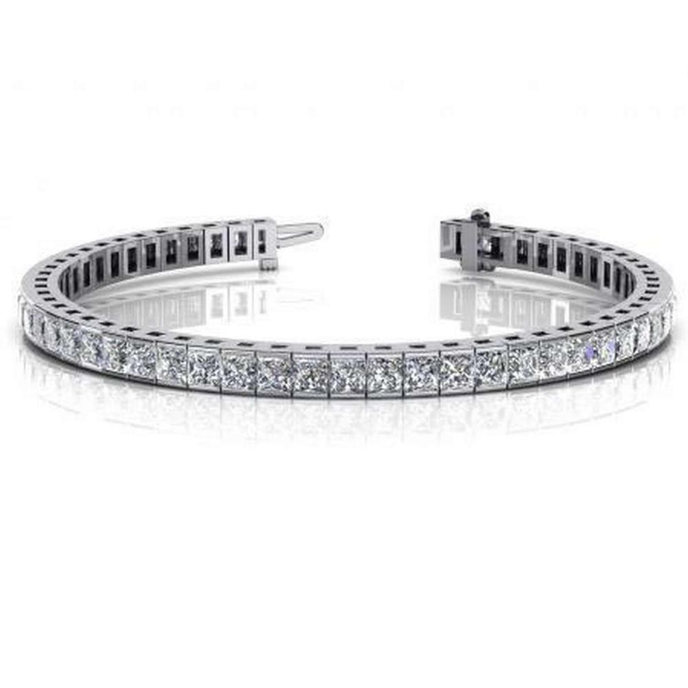 CERTIFIED 14K WHITE GOLD 8 CTW G-H SI2/I1 CLASSIC DIAMOND BOX TENNIS BRACELET MADE IN USA #PAPPS21492