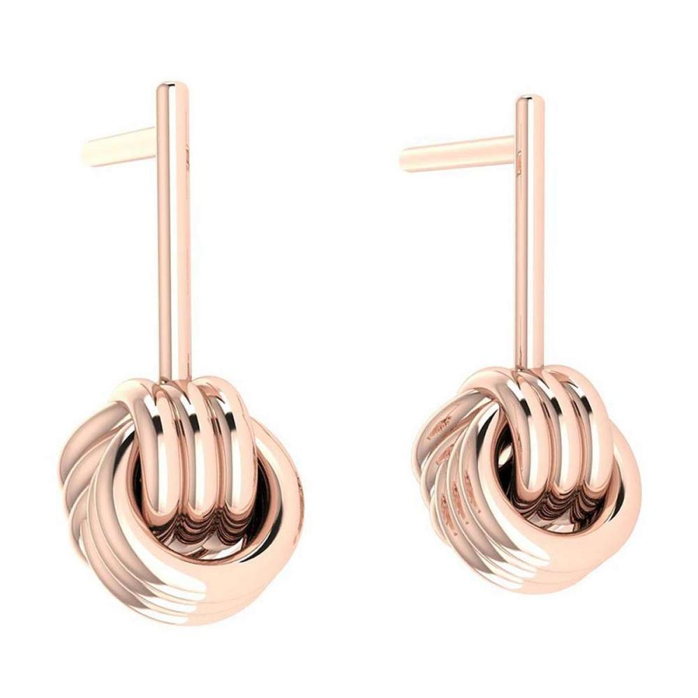 Gold Stud Earrings 14K Rose Gold Made In Italy #PAPPS22198