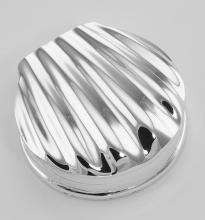 Classic Scallop Shell Sterling Silver Pillbox - Pill Box #97387v2