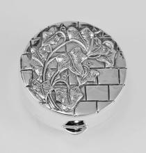 Sterling Silver Pillbox w/ Ivy Wall Design Made in USA #PAPPS98264