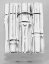 Handcrafted Italian Bamboo Shaped Sterling Silver Pillbox Engraveable #PAPPS98377