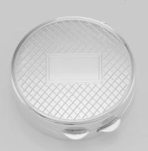 Classic Engravable Sterling Silver Round Engravable Pillbox - Made in USA #PAPPS98275