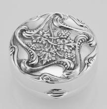 Vintage Art Nouveau Style Pillbox - Made in USA - In Fine Sterling Silver #PAPPS98263