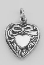 Heart Charm or Pendant - Sterling Silver #PAPPS97347