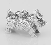 Scottie Dog Charm Pendant - Sterling Silver #PAPPS97336