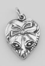 Heart Pendant Charm with Bells - Sterling Silver #PAPPS97292