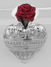 Art Deco Style Heart Vase Pin - Sterling Silver #PAPPS97889