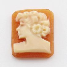 11.5 mm x 9.5 mm Octagon Hand Carved Italian Shell Cameo - Loose #PAPPS98391