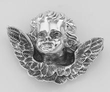 Winged Cherub Head Pin or Brooch - Sterling Silver #PAPPS97850
