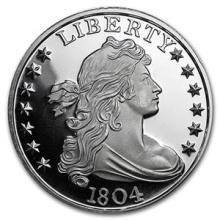 1 oz Silver Round - 1804 Silver Dollar #74466v3