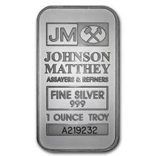 1 oz Silver Bar - Johnson Matthey #74622v3