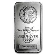 5 oz Silver Bar - Morgan Design #74652v3