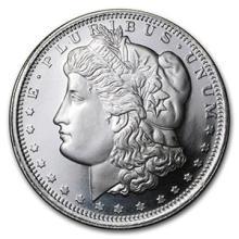 1 oz Silver Round - Morgan Dollar Design #74470v3