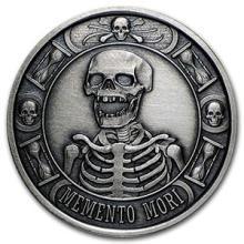 1 oz Silver Round - Memento Mori (Antique Finish) #74572v3