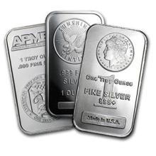 1 oz Silver Bar - Secondary Market (one piece per lot) #74608v3