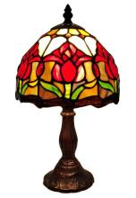TIFFANY STYLE TULIPS TABLE LAMP 14 INCHES HIGH #99493v2