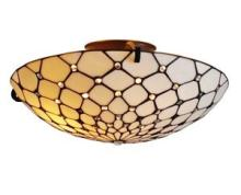 TIFFANY STYLE CEILING FIXTURE LAMP 17 IN WIDE #10203v3