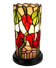 TIFFANY STYLE FLORAL MINI TABLE LAMP 10 INCHES TALL #99502v2