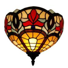 TIFFANY STYLE VICTORIAN DESIGN WALL LAMP 12 IN WIDE #10204v3