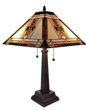 TIFFANY STYLE MISSION DESIGN TABLE LAMP 22 IN #99498v2
