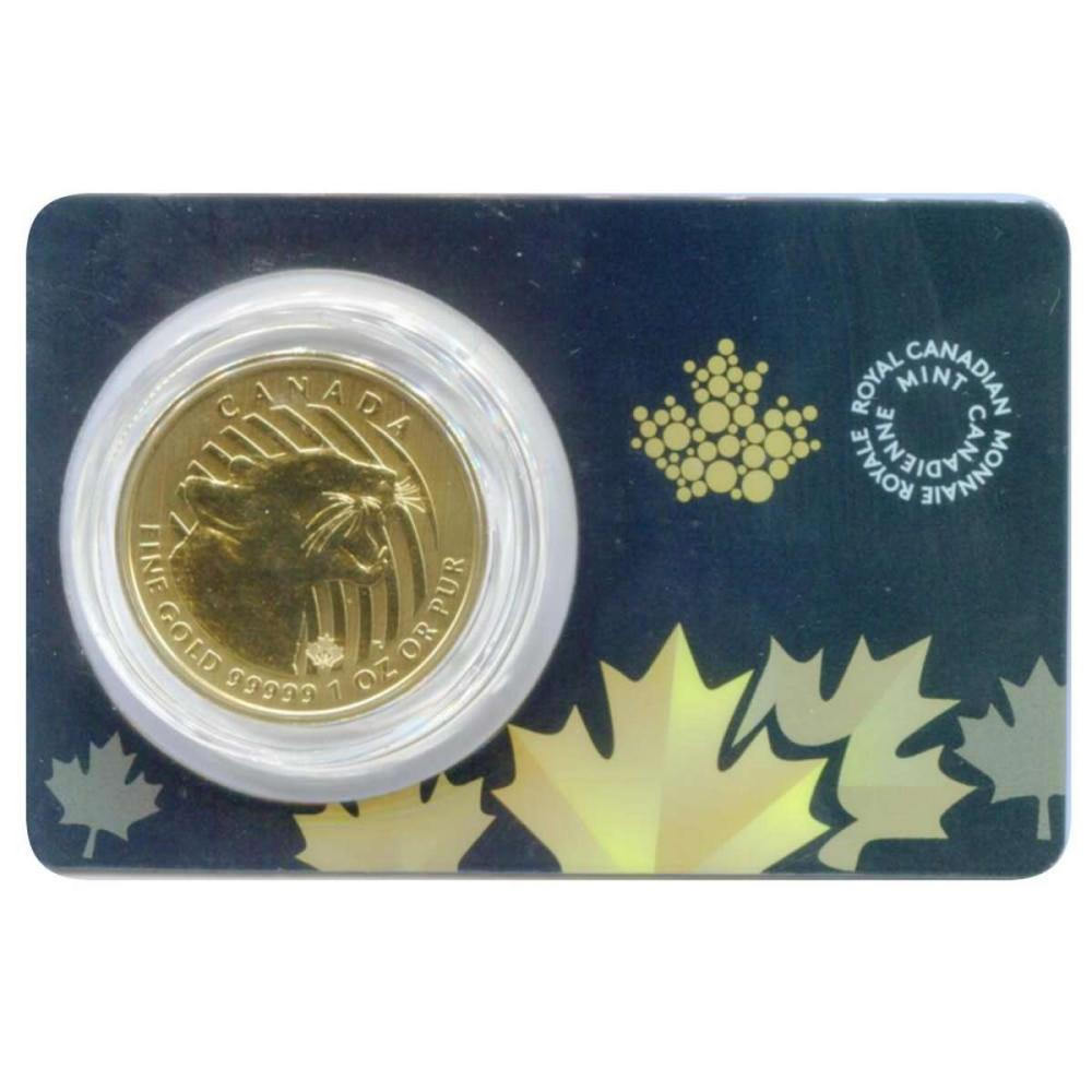Canada 1 ounce Gold Cougar 2015 .99999 pure #PAPPS58394