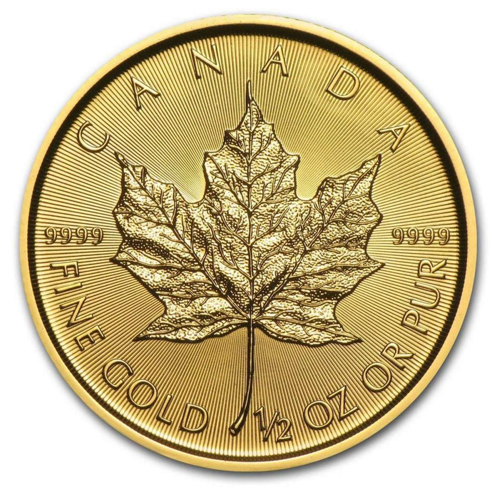 2018 1/2 oz Canadian Gold Maple Leaf Uncirculated #PAPPS58397